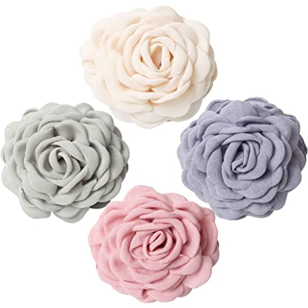 Hollow Flowers Patterns Hair Claw Womens Large Hair Clasp Grips Clips Black
