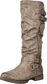 Fergalicious Women's Delta Knee High Boot, Grey, 5