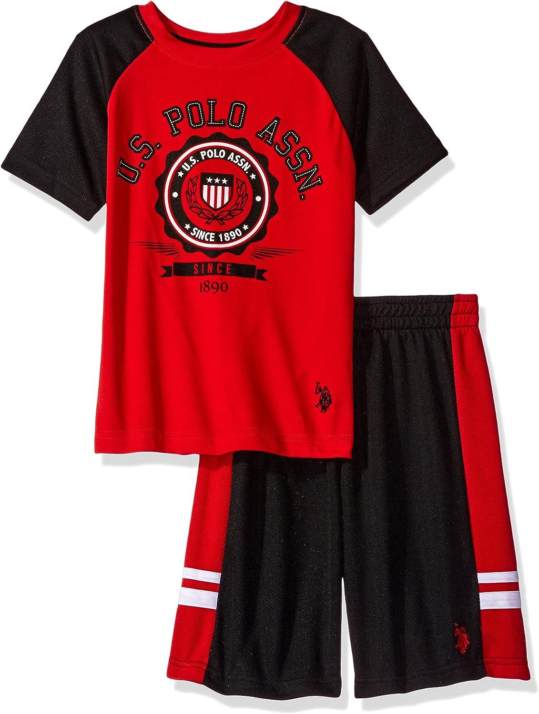 U.S. Polo Assn. Excellence Boys' 2 Piece and Tee Set Short Mesh Sleeve Max 52% OFF