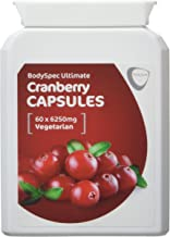 BodySpec Cranberry Capsules 60 x 6 250 mg 250 mg of 25 1 extract