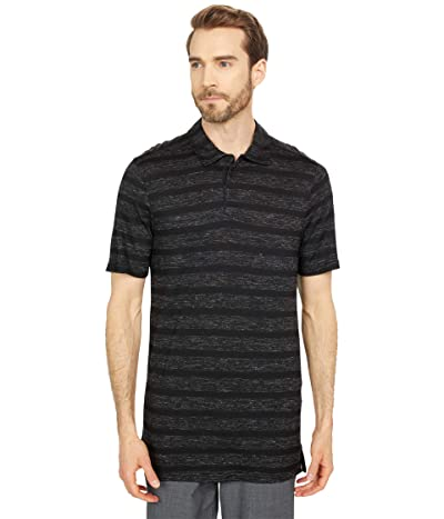 Smartwool Everyday Exploration Merino Polo (Black Stripe) Men