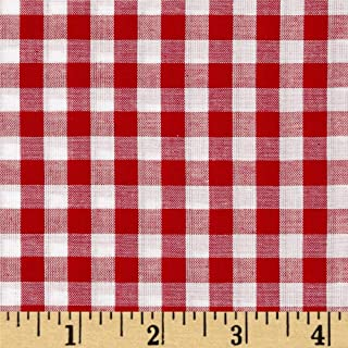 Richland Textiles 0433637 Richcheck 60in Gingham Check 1/4in Red Fabric by the Yard