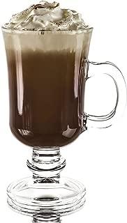 Original Footed Clear Glass Irish Coffee Mug, Set of 6-7.75 Ounce