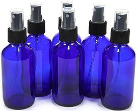 Vivaplex 6, Cobalt Blue, 4 oz Glass Bottles, with Black Fine Mist Sprayer, 6 Pack