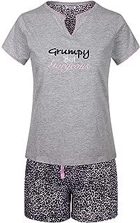 SofiePJ Women's Printed Cotton Short Sleeve Pajama Set with Short Pants