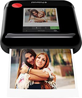 Polaroid WiFi Wireless 3x4 Portable Mobile Photo Printer (Black) with LCD Touch Screen, Compatible w/iOS & Android.