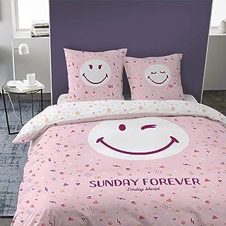 SMILEY Parures de lit, Rose, 240 x 220 cm