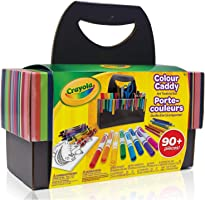Crayola Colour Caddy, Art Supplies Kids, Travel Art Set, 90+ Pieces , Holiday Kids, Age4,5, 6, 7, 8, 9, Back to school,...
