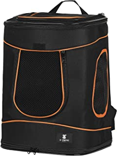 X-ZONE PET Dog Cat Hands Free Mesh Pet Carrier Backpack,Soft Sided Airline Approved Outdoor Traveling Hiking Camping Backpack Carriers,Hold Pets Up to 15 Pounds