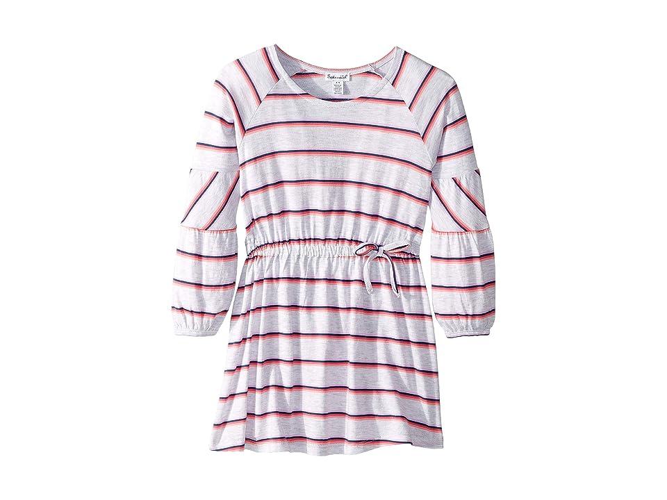 Splendid Littles Heather Stripe Dress (Toddler/Little Kids) (Ice Gray Heather) Girl