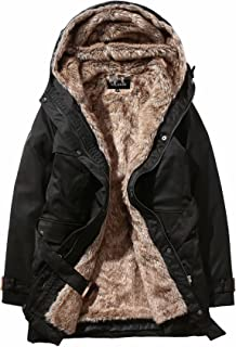Valuker Women's Winter Trench Coat with Detachable Fur Lined Hooded Parka