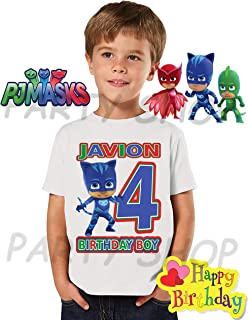 Catboy Pj Masks Birthday Shirt, Pj Masks Catboy Birthday Party, Add Any Name and Age Family Matching Shirts, Boy Birthday Shirts, Pj Masks Birthday Shirt, Pj Masks Boy Big Number 2