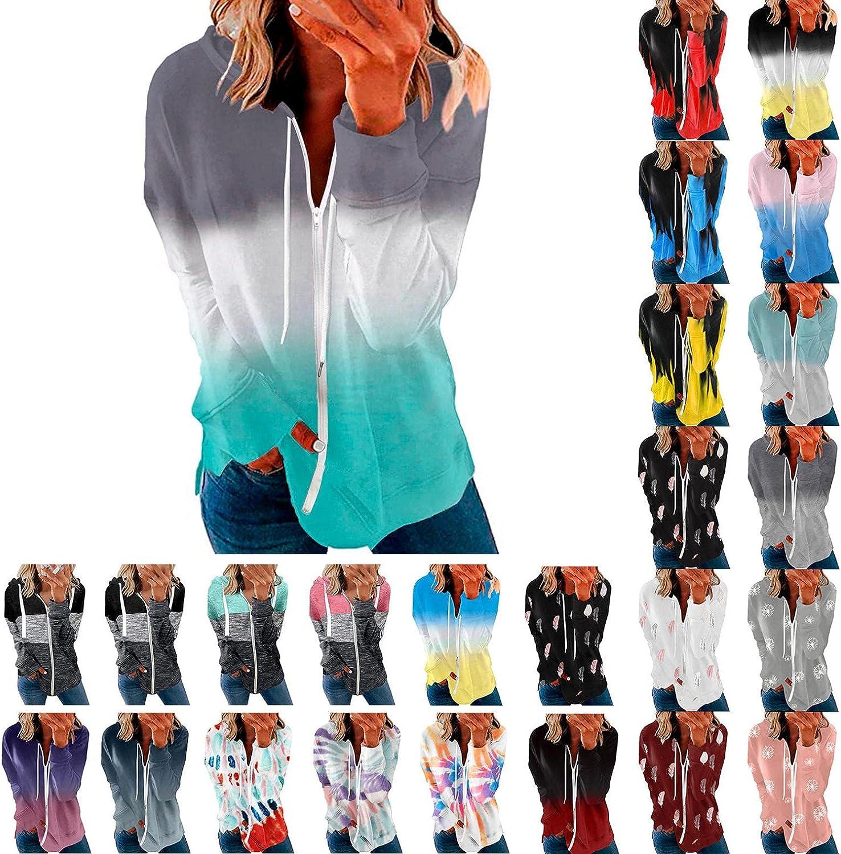 INNOVIERA Womens Tie Dye Printed Drawstring Pullover Sweatshirt Hoodies Tops Casual Comfy Hoodie Shirts Hoodies for Women