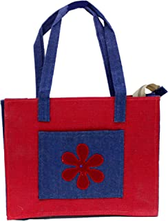 Eco Friendly Jute/ Burlap Natural Large Grocery Shopping Tote Bag Hand Bag