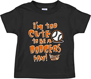 Im Too Cute to Be A Cubs Fans NB-4T Rookie Wear by Smack Apparel Chicago Baseball Fans Black Onesie or Toddler Tee