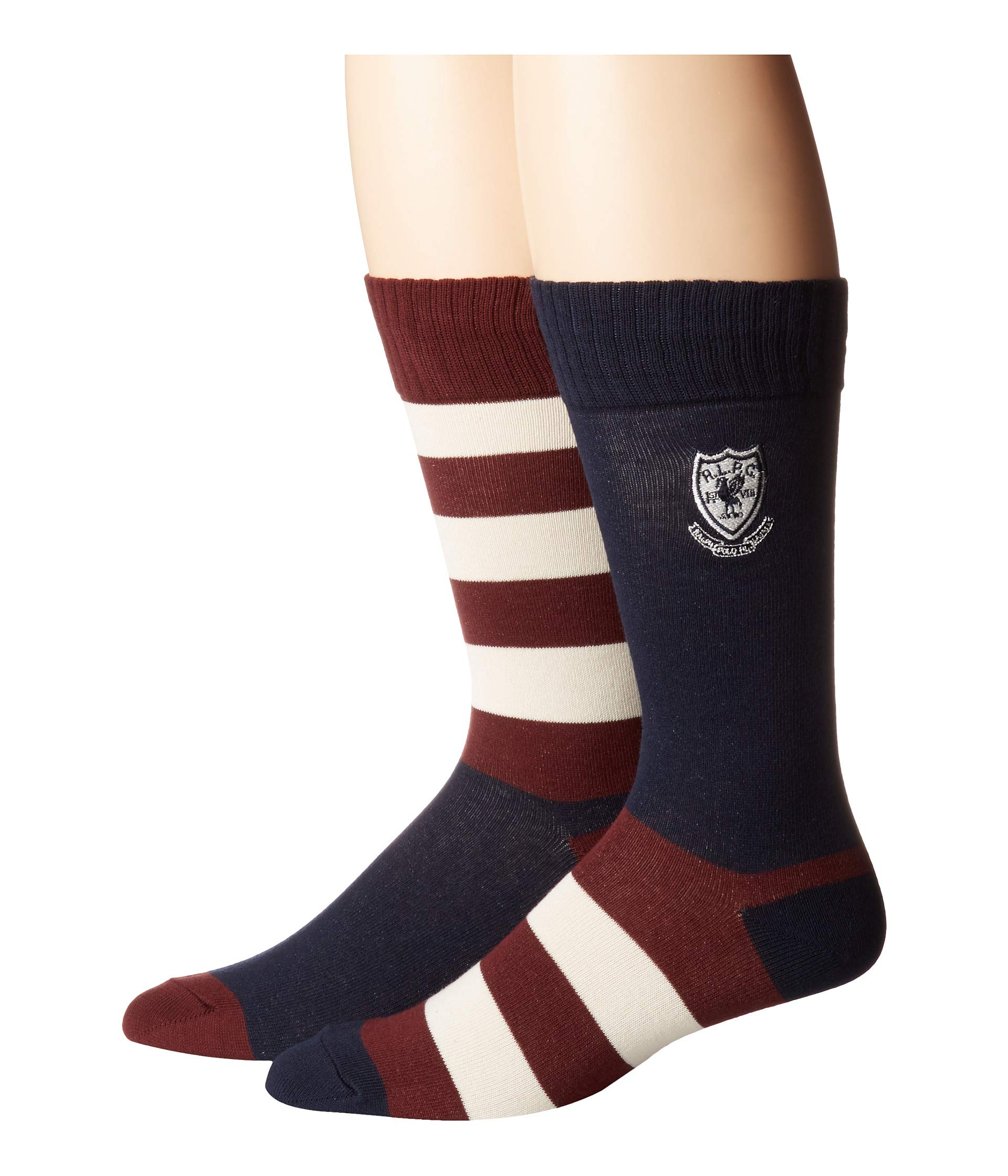 Polo Mismatched Single Lauren Stripe Embroidery With Navy Crest Rugby Ralph 7q7AwxrP