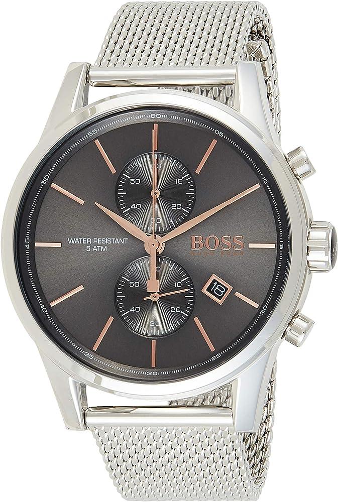 Hugo boss orologio cronografo uomo con cinturino in acciaio inox 1513440