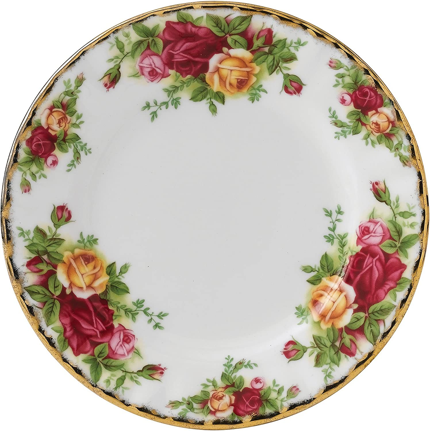 Royal Albert 15210008 Old Country Don't miss the supreme campaign Bread and Plate Roses Butter