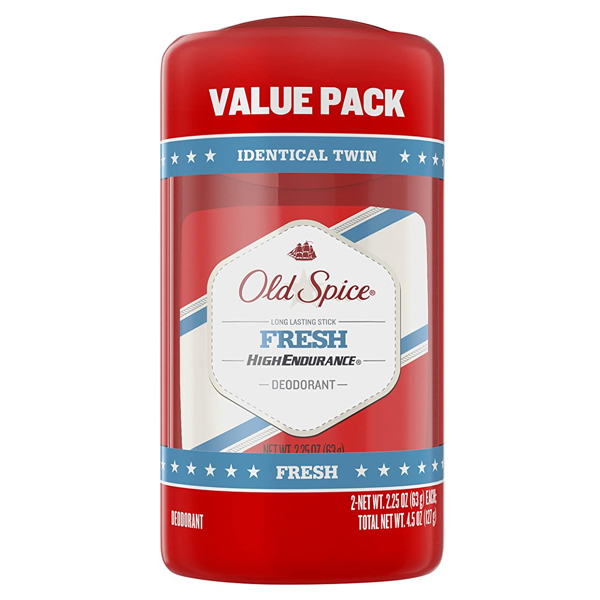 スクワイアプランテーションサロンオールドスパイス Old Spice ハイエンデュランス フレッシュ デオドラント スティック 男性用 63g 2個セット[平行輸入品]