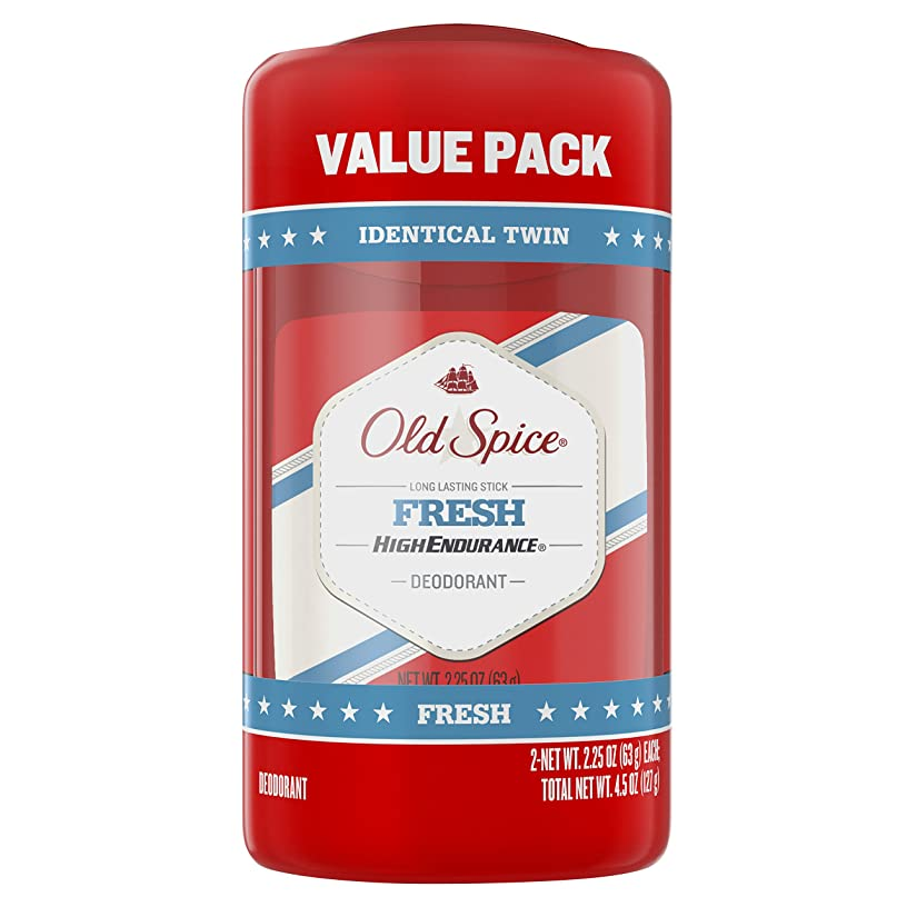 分数くびれたリスオールドスパイス Old Spice ハイエンデュランス フレッシュ デオドラント スティック 男性用 63g 2個セット[平行輸入品]