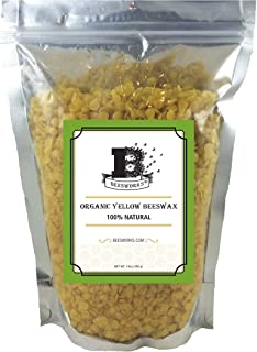 Beesworks® Organic Yellow Beeswax Pellets - 14oz Certified Organic
