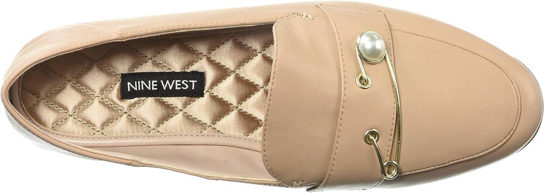 NINE WEST Womens Winjum Leather Loafer Flat