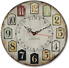 MGT0002 (30 x 30 cms) Analog wood-Wall Clock multi color