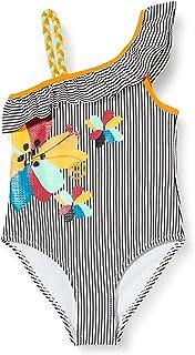 TUC TUC Costume da Bagno Righe Bambina Grigio Wild Side