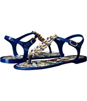 Dolce & Gabbana - Maiolica Ceramic Print Jelly Sandal