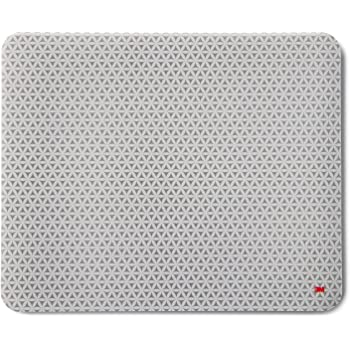 """3M Precise Mouse Pad with Repositionable Adhesive Back, Enhances the Precision of Optical Mice at Fast Speeds and Extends the Battery Life of Wireless Mice up to 50%, 8.5"""" x 7"""", Bitmap (MP200PS)"""