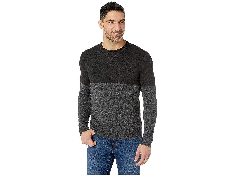 Smartwool Sparwood Color Block Crew Sweater (Charcoal Heather) Men