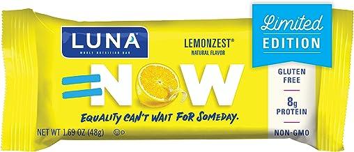 LUNA BAR - Gluten Free Bars - Lemon Zest Flavor - (1.69 Ounce Snack Bars, 15 Count)(Packaging May Vary)