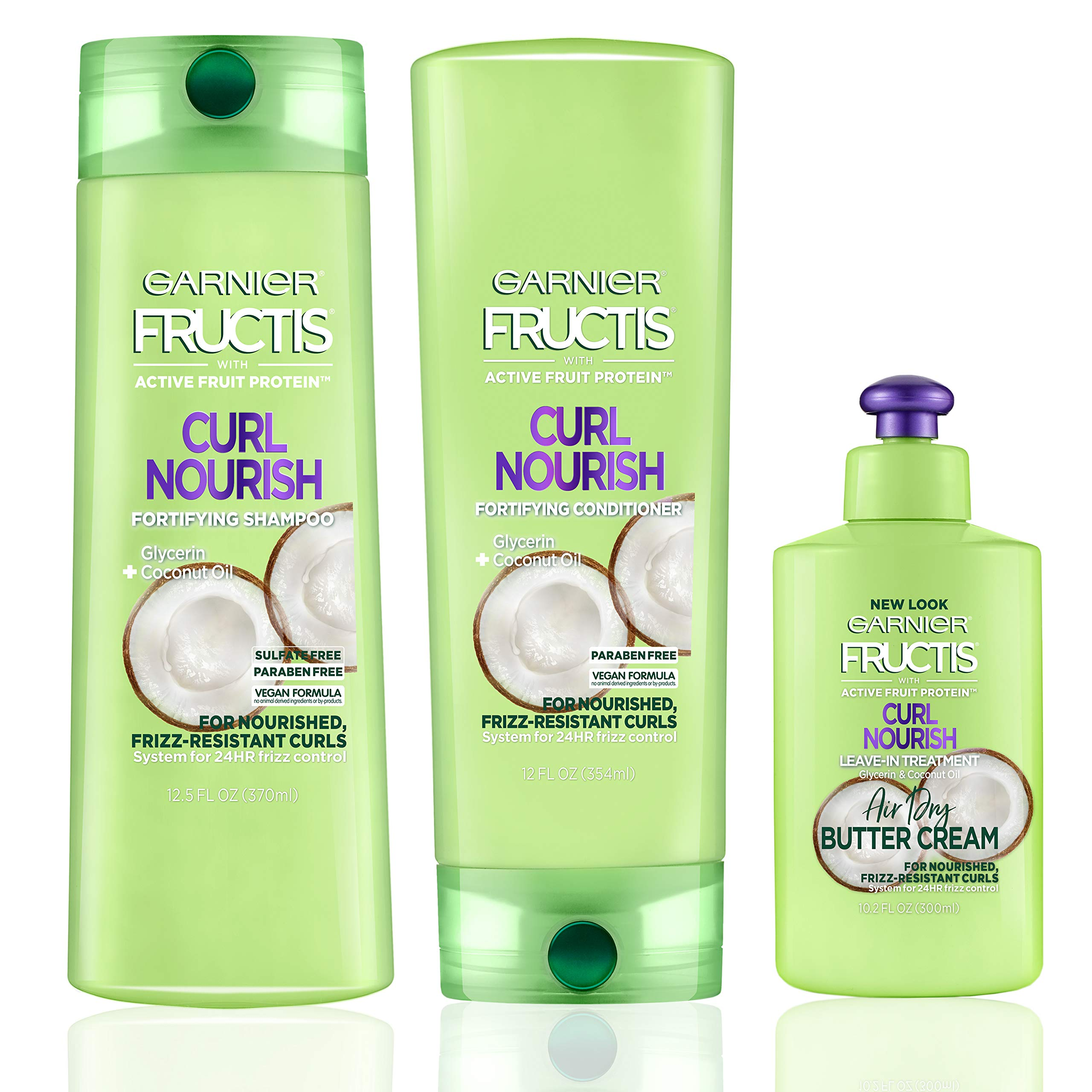Garnier Hair Care Fructis Curl Nourish Shampoo, Conditioner, and ...