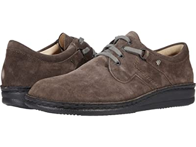 Finn Comfort Vaasa 1000 (Asphalt (Grey) Velour) Lace up casual Shoes