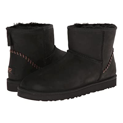 UGG Classic Mini Deco (Black Leather) Men