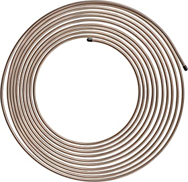 """4LIFETIMELINES Non Magnetic, True Copper-Nickel Brake Line Tubing Coil - 3/16"""" x 25' (.028"""" Wall Thickness): image"""