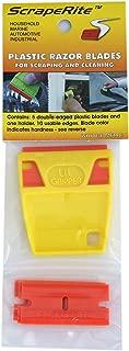 Hardline Products Scraperite Plastic Razor Blades with Holder
