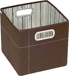 JJ Cole Collections Storage Box, Cocoa Stripe, 11