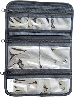 EzPacking Jewelry Roll for Home Organization and Travel/Necklaces, Rings, Bracelets, Earrings Organizer for Storage (Black)