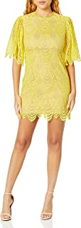 Dress the Population womens TONI LACE FLUTTER SLEEVE SHORT MINI SHIFT DRESS Dress