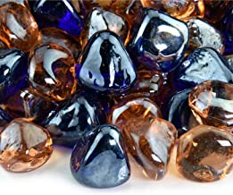 Marmalade Skies - Blended Fire Glass Diamonds for Indoor and Outdoor Fire Pits or Fireplaces   10 Pounds   1 Inch