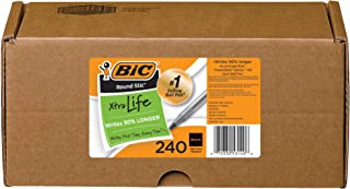 BIC Round Ball Pen, Blue, 36 Count