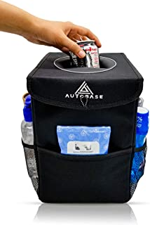 Autobase Car Trash Can with Lid and Storage Pockets | Automotive Garbage Bag and Organizer | Interior Accessory for Cars, ...