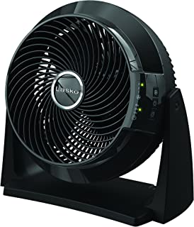 Lasko 3637 3-Speed Fan with Remote Control, Small, Black