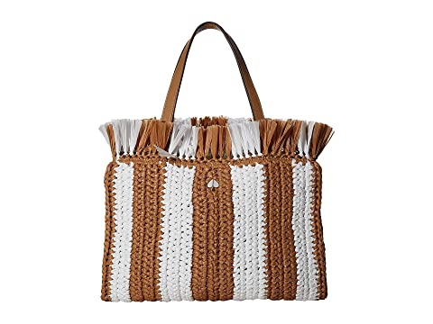 Kate Spade New York Sam Stripe Straw Medium Satchel