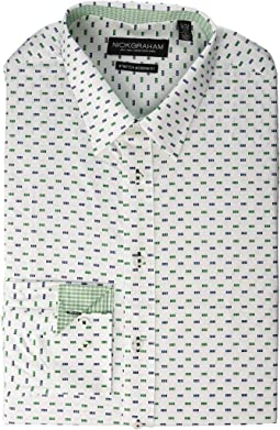 Square Dot Modern Fit Stretch Dress Shirt