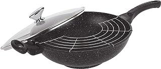 Pradel Excellence 52885M - Sartén en Forma de Fuente con Tapa Transparente (diámetro 32 cm, Capacidad 5 L), Color Negro