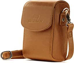 MegaGear MG1504 Canon PowerShot SX740 HS, SX730 HS Leather Camera Case with Strap - Light Brown