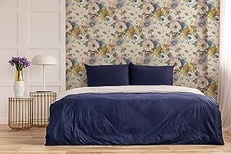 ورق جدران قابل للإزالة واللصق بنمط زهور قبرص، أرجواني
