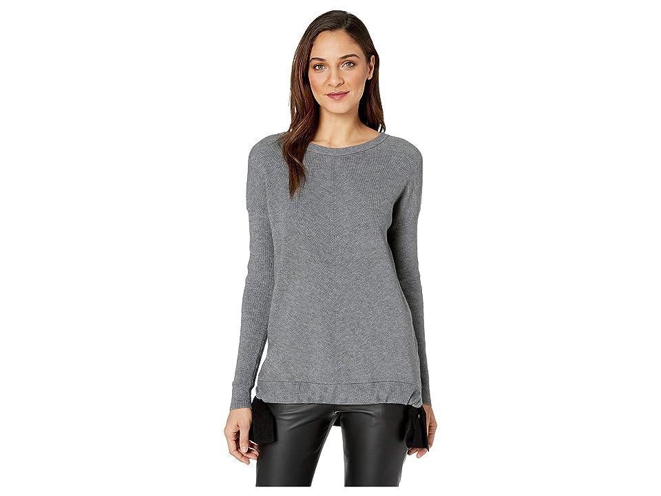 kensie Fuzzy Viscose Blend Sweatshirt KS1K5930 (Heather Steel) Women